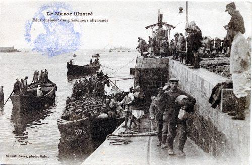 """Maroc """"Débarquement des prisonniers allemands"""""""