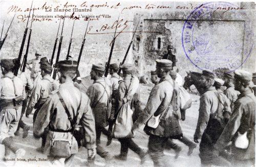 Maroc - Les prisonniers allemands - l'arrivée en ville