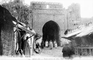 Maroc - Recto carte postale Meknès - porte entrée de ville - Bab Djedid