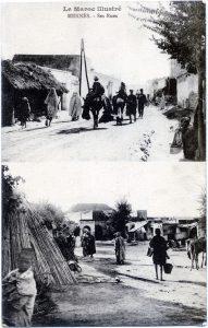 Meknès ses rues, verso carte postale envoyée par Joseph Miquel