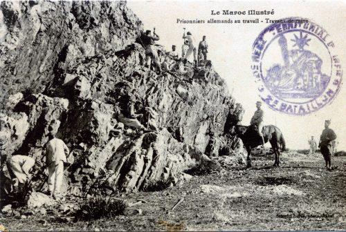 Prisonniers allemands au travail - Travaux de mine
