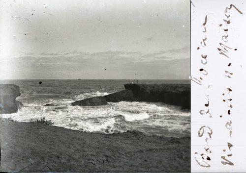 Maroc 1916 - Bord de l'océan vis-à-vis notre maison - photo© Joseph Miquel