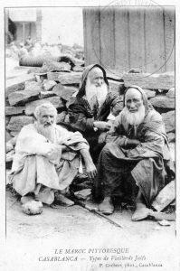 """Carte postale, Casablanca """"Types de vieillards juifs"""". Vers 1914"""