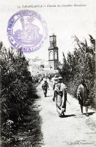 Maroc 1914 - Casablanca - Chemin du cimetière