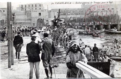 Casablanca - embarquement des troupes pour le sud