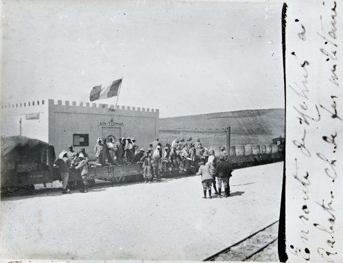 Maroc, 1915, en route de Meknès à Rabat, chemin de fer militaire