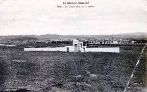 Fez - carte postale Maroc 1914-1918 Le grand mur de la prière