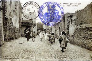Carte postale, Fez, une rue vers 1915. Maroc