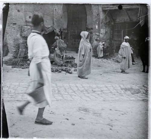 Meknès avenue du Mellah en 1915 ou 1916 - Photo © Joseph Miquel
