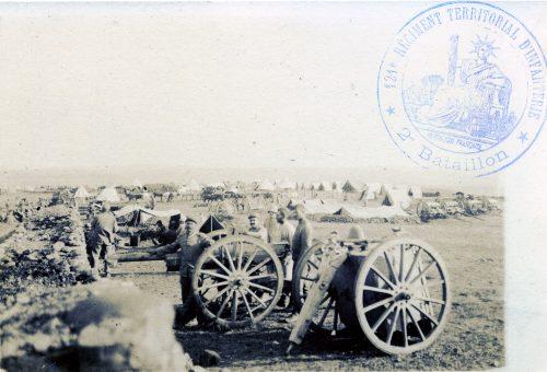 Maroc - 1915 - Photographie colonne poilus - Colonisation