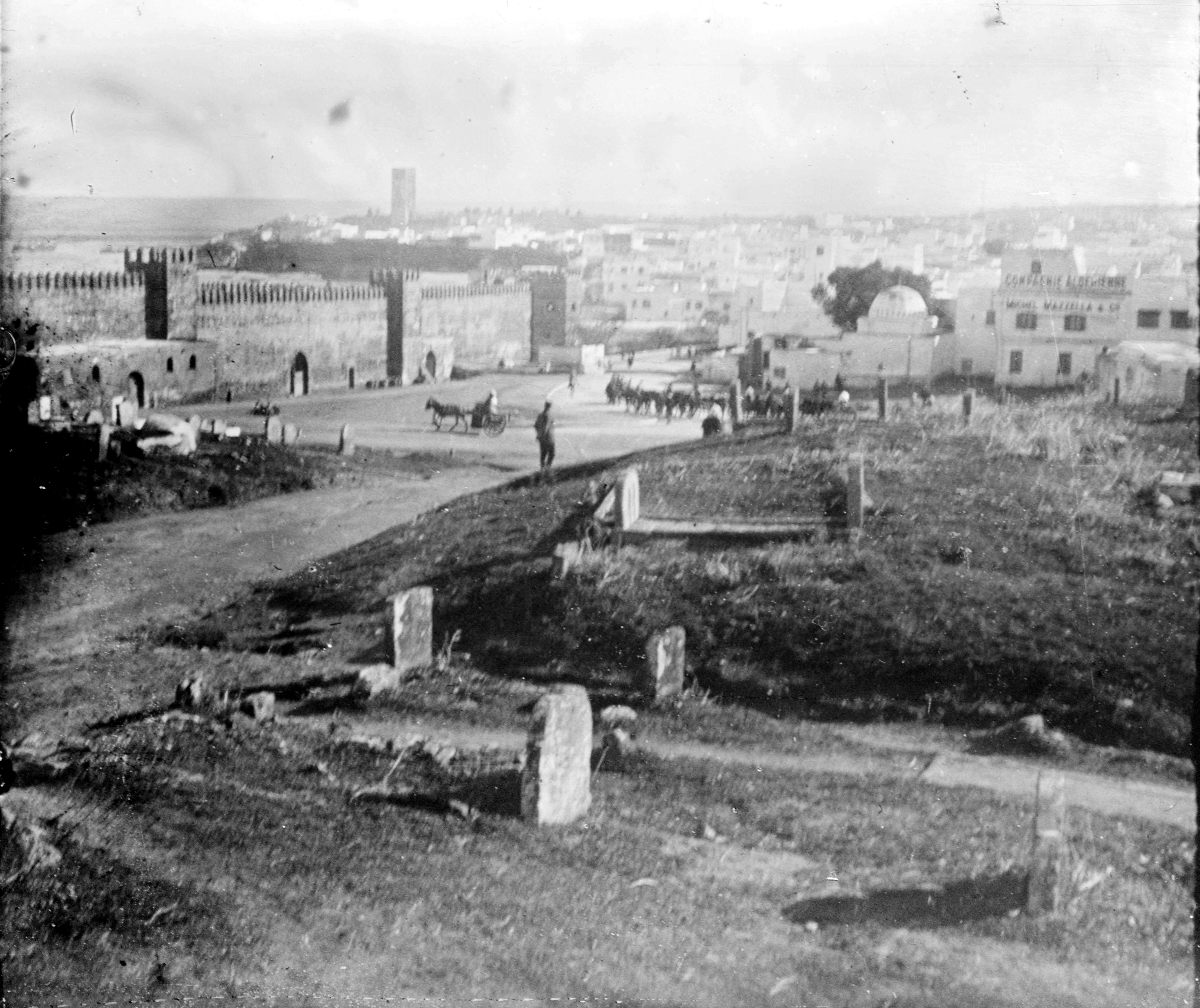 Pointe des Oudaïas - vue sur Salé - Maroc 1915-1916