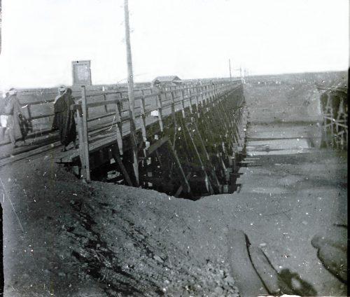 Pont du chemin de fer sur l'oued-Sebou - Maroc 1915 - 1916 - Photo © Joseph Miquel