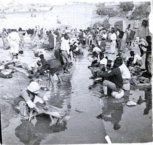Tirailleurs africains - lessive - Photo © Joseph Miquel -Meknès Maroc 1915