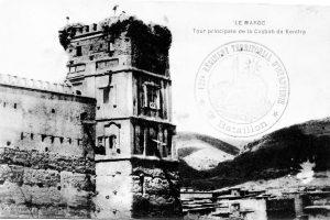 Tour principale de la casbah de Kenifra - Maroc 1914