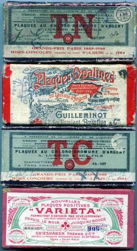 Boîtes plaques gelatino-Bromure d'argent