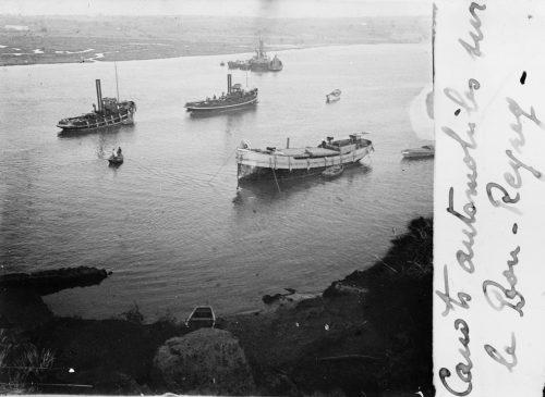 Maroc 1914 canots Rabat Bou Regreg