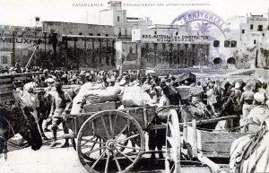 Maroc 1914 Casablanca - Débarquement des approvisionnements