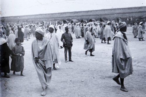 Place El Hédim, Meknès, Maroc 1915 Photo © Joseph Miquel