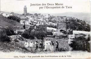 Taza - Vue partielle des fortifications et de la ville - Maroc 1914