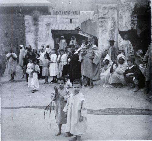 Maroc 1915 Bazar de la ville, horlogerie