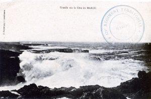 Ecueils sur la côte du Maroc - carte postale 1914