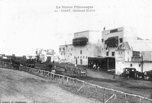 boulevard el Alou Rabat -carte postale