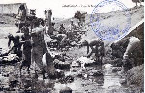 Carte postale Maroc 1917 - Casablanca - type de Sénégalais