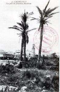 Carte postale Maroc 1914 - Casablanca - vue prise du cimetière musulman