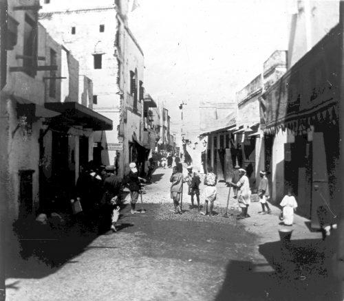 Maroc 1917 - une rue - Photo © Joseph Miquel
