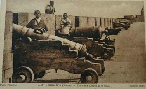 les vieux canons de Essaouira/Mogador - Maroc 1914