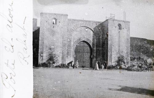 Bab el-Alou (porte de la Hauteur) Rabat, Maroc 1917